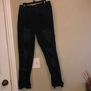 Distress black Mossimo jeans